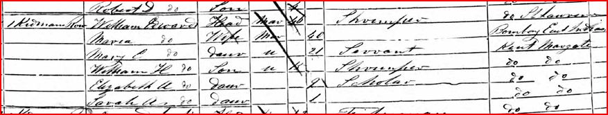 William Edwards and Maria Harcour census 1851