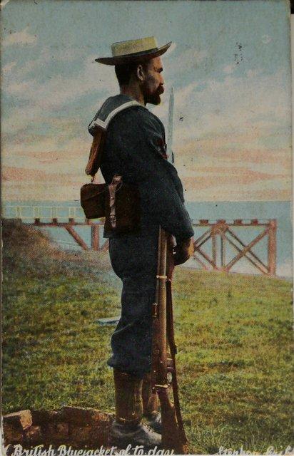 Vintage postcard of a British Bluejacket sent 1908