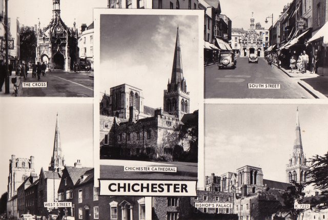 Chichester multiview vintage postcard