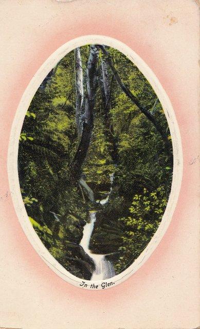 In the Glen vintage postcard