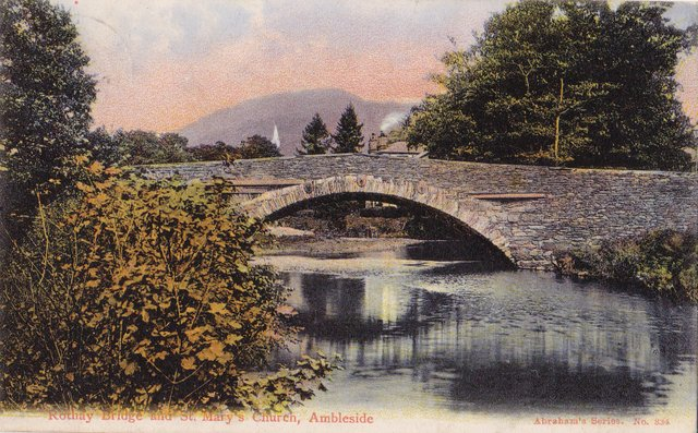 Rothay Bridge and St Mary's Church, Ambleside, Cumbria