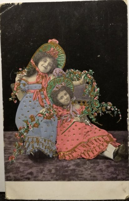 Slightly creepy vintage postcard