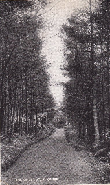 Vintage postcard. The Cinder Walk, Crieff, Perth and Kinross