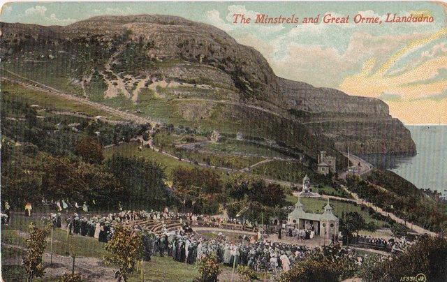 The Minstrels and Great Orme, Llandudno, Wales