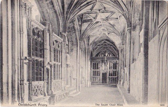 The South Choir Aisle, Christchurch Priory, Dorset