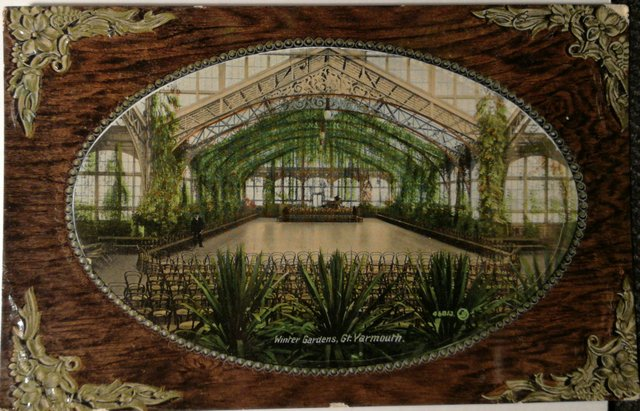 Vintage postcard of the Winter Gardens, Great Yarmouth, Norfolk