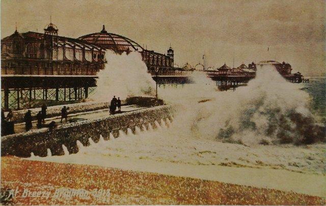 A Breezy Brighton, old postcard