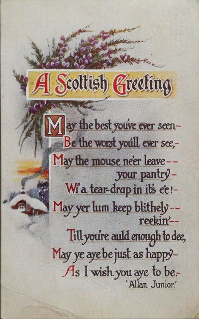 Vintage postcard: A Scottish Greeting
