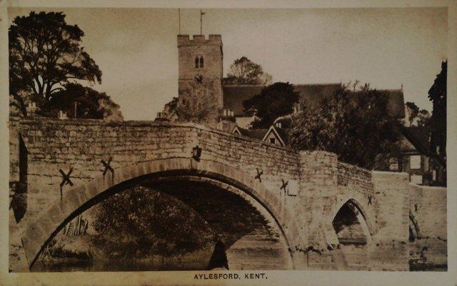 Aylesford kent, old postcard