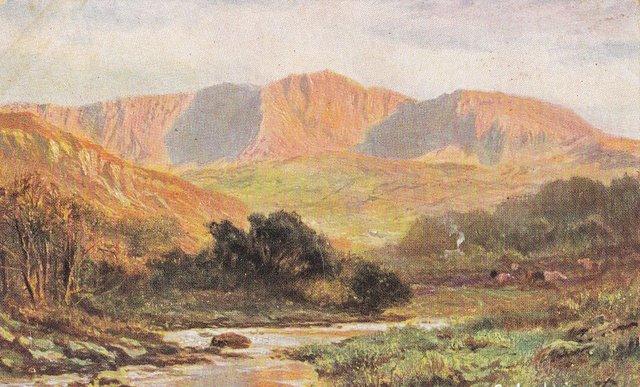 Vintage postcard of Cader Idris, Gwynedd, Wales