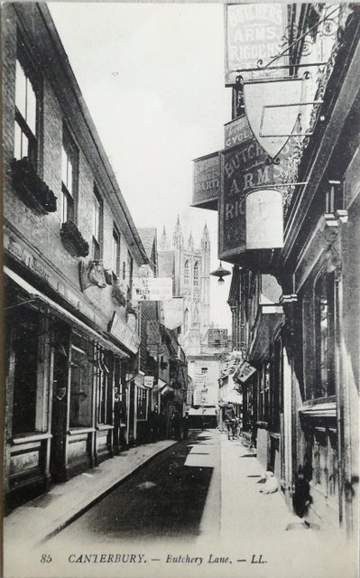 Canterbury, Butchery Lane, old photo