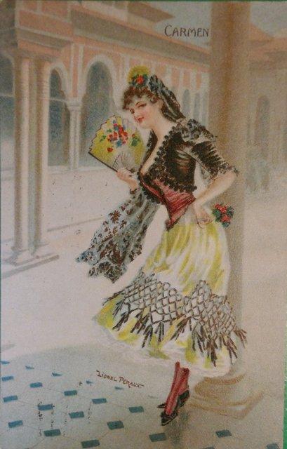 Carmen vintage postcard