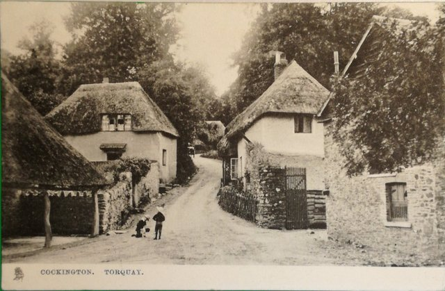 Vintage postcard of Cockington, Torquay