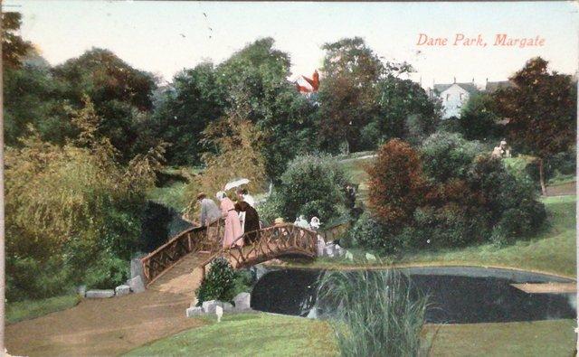 Vintage postcard of Dane Park, Margate, Kent
