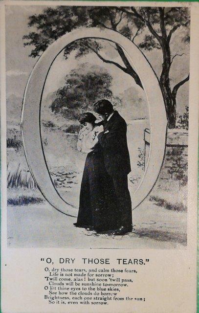 Vintage with sympathy postcard