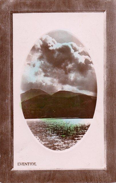 Vintage postcard, Eventide