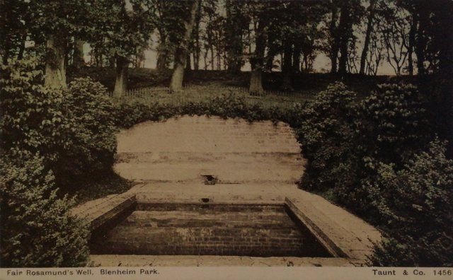 Fair Rosamund's well, Blenheim Park, Woodstock, Oxfordshire, old postcard