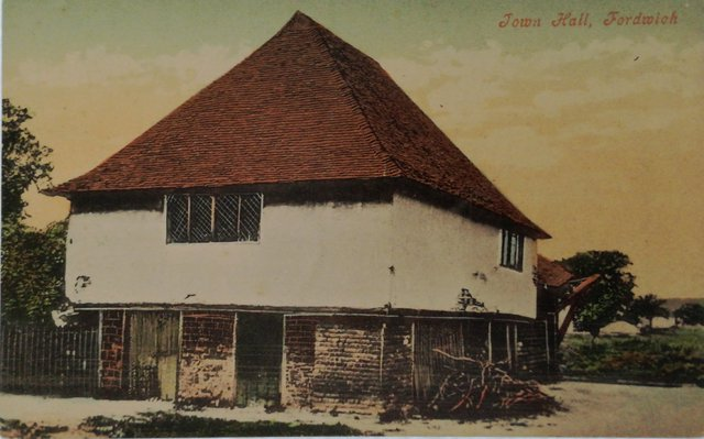 Vintage postcard of Fordwich Town Hall, Kent
