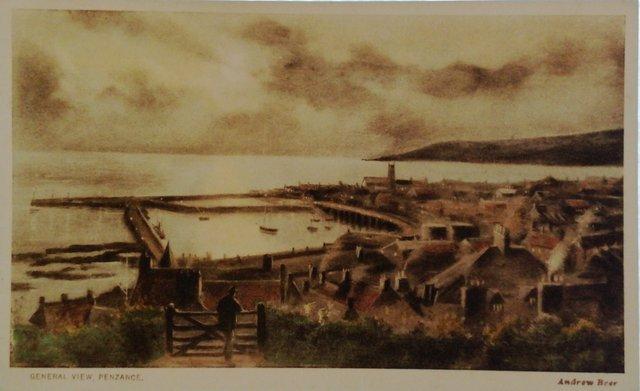 General View, Penzance, Cornwall, vintage postcard