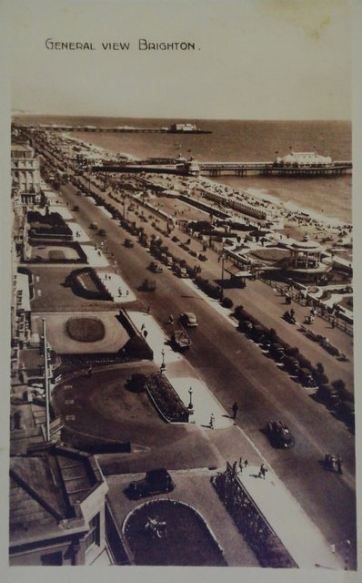 General view, Brighton, old postcard