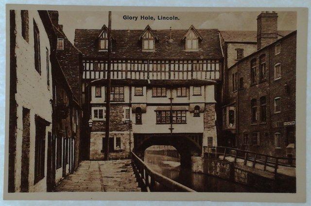 Vintage postcard of Glory Hole, Lincoln
