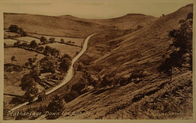Old postcard of Hathersage Down, the Cupola, Derbyshire