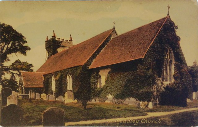 Headley Church, Hampshire, old postcard