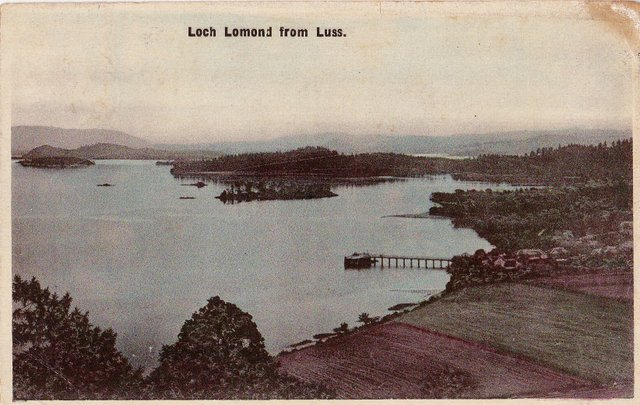 Vintage postcard Loch Lomond from Luss