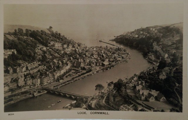 Looe, Cornwall, old postcard