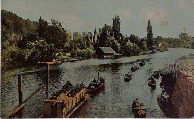 Maidenhead, Berkshire, vintage postcard