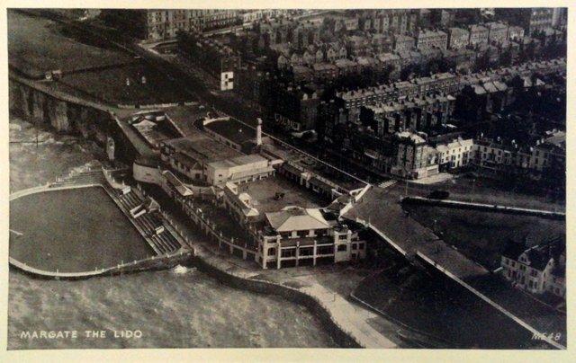 Margate, Kent, The Lido, vintage postcard