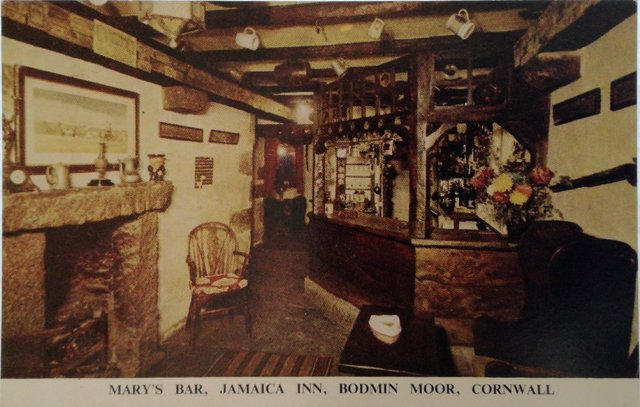 Mary's Bar, Jamaica Inn, Bodmin Moor, Cornwall, old postcard