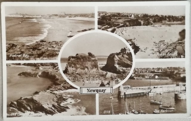 Vintage postcard of Newquay, Cornwall