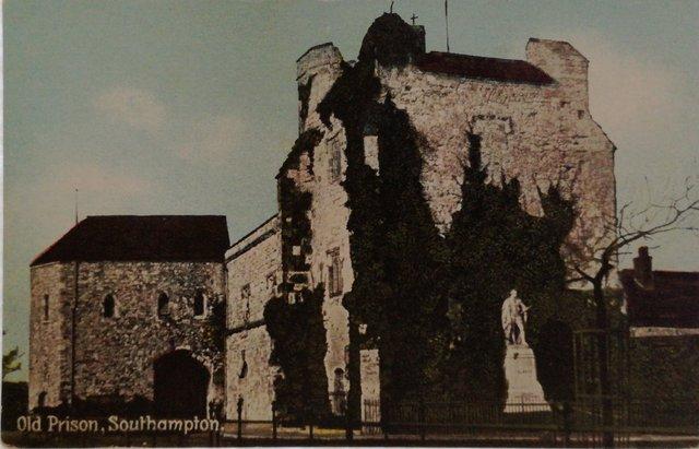 Old Prison, Southampton, vintage postcard