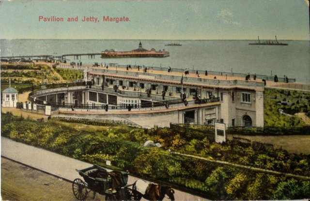 Vintage postcard of the Pavillon and Jetty, Margate