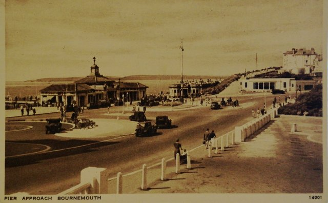 Pier Approach, Bournemouth, old postcard