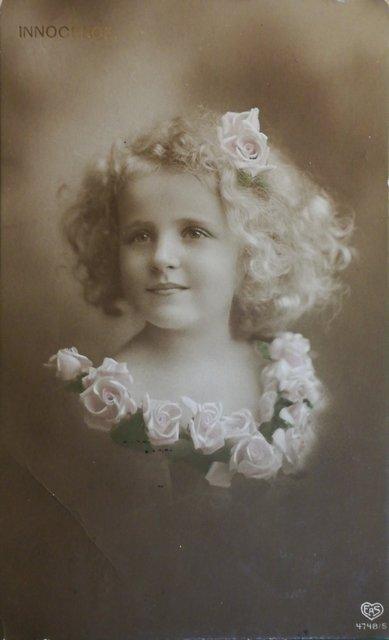 Vintage postcard - portrait