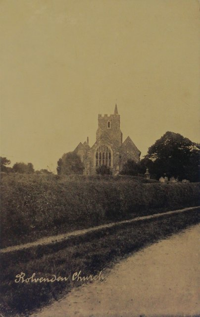 Rolvenden Church, Kent, old postcard