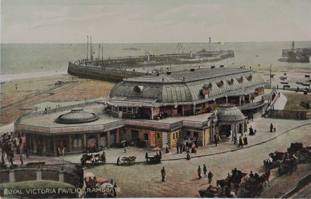 Old postcard of the Royal Victoria Pavilion, Ramsgate, Kent