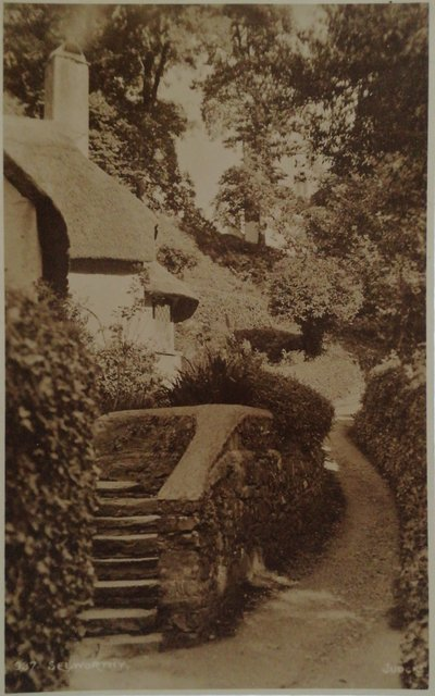 Old postcard of Selworthy, Somerset