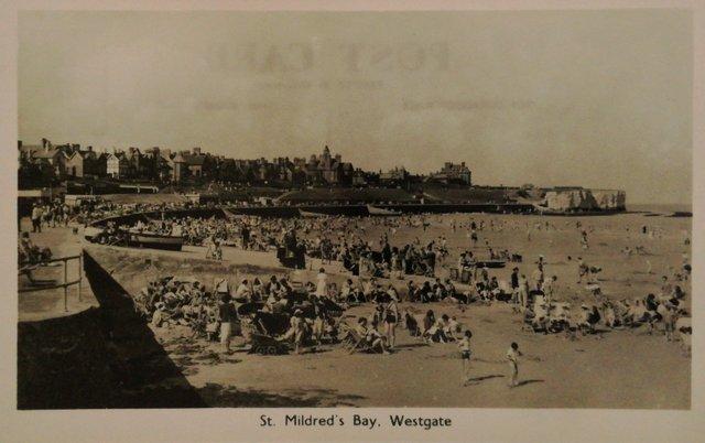 St Mildred's Bay, Westgate, Kent, vintage postcard