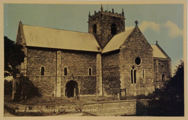 Stow Church, Mother of Lincoln Minster, Lincolnshire, old postcard