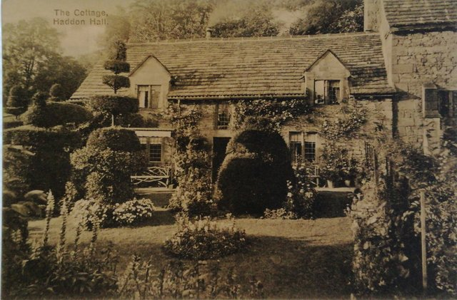 The Cottage, Haddon Hall, nr Bakewell, Derbyshire, old postcard