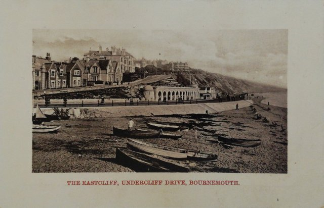 The Eastcliff, Undercliff Drive, Bournemouth, vintage postcard