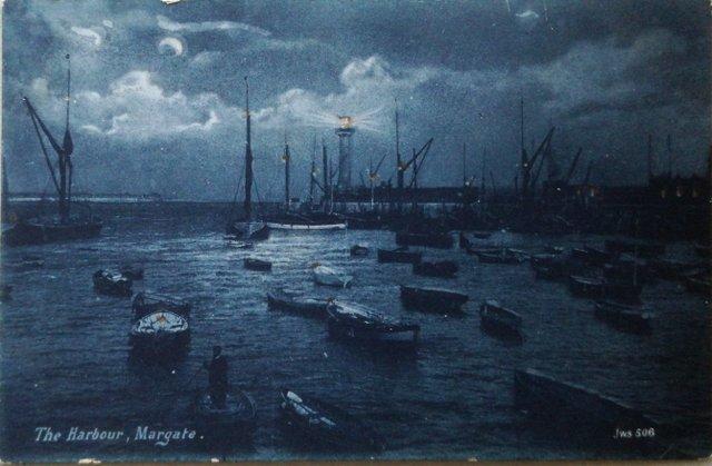 The Harbour, Margate, Kent, vintage postcard