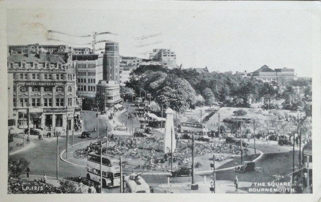Vintage postcard, The Square, Bournemouth, Dorset