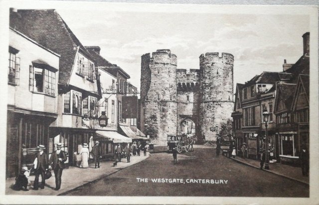 The Westgate, Canterbury Kent, old postcard