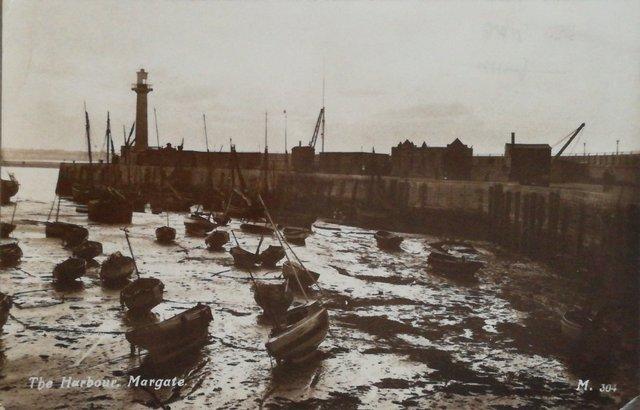 Vintage postcard of The harbour, Margate, Kent