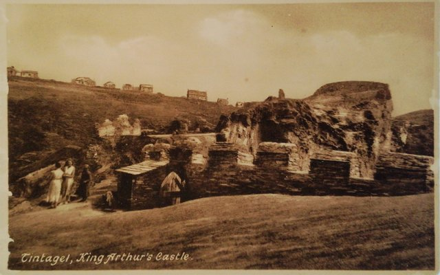 Tintagel, King Arthur's Castle, old postcard