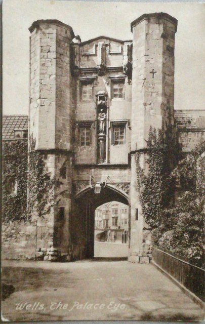 Wells, The Palace Eye, vintage postcard